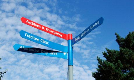 Hospital signpost